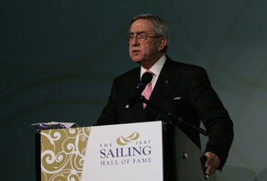 His Majesty King Constantine at the Awards dinner