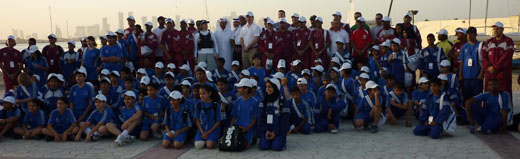 The team in Doha