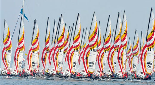 Action from the Hobie Europeans
