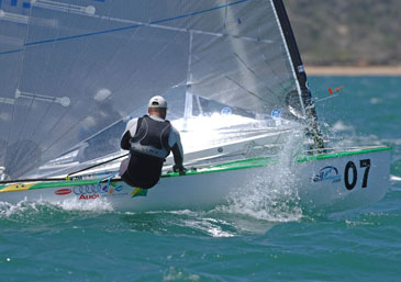 Racing at Sail Melbourne: © Sport the library/Jeff Crow