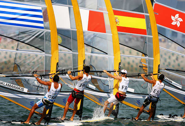 2008 Olympics - Men's RS:X Medal Race