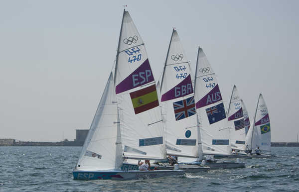 2012 Olympics - Women's 470 Medal Race & Ceremony