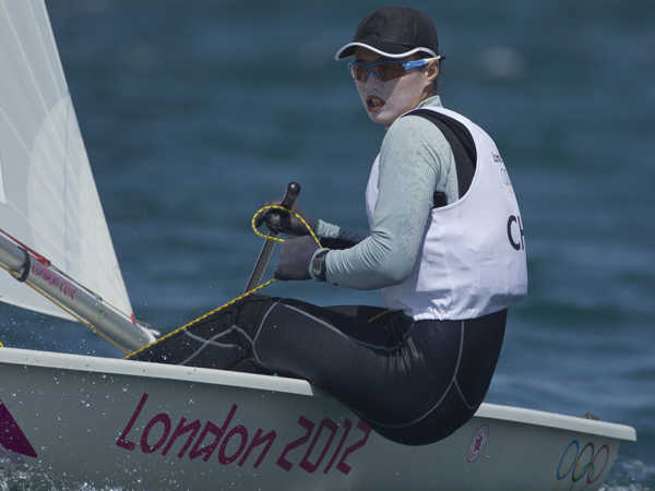 2012 Olympics - Laser Radial Medal Race Line Up