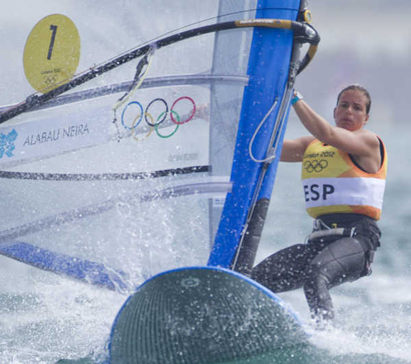 2012 Olympics - RS:X Women Medal Race Line Up