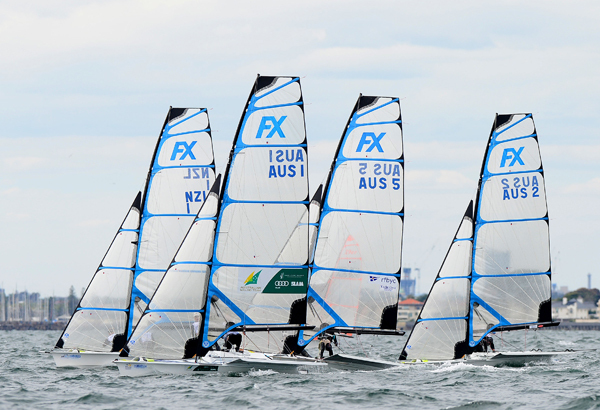 The 49erFX on the international stage for the first time