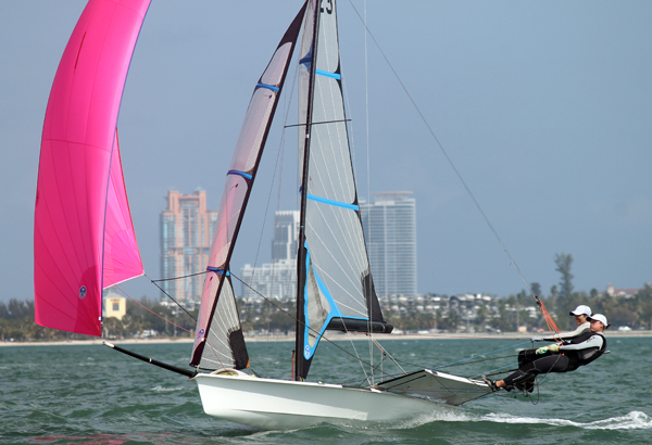Giulia Conti & Francesca Clapcich (ITA) in good form in the 49erFX