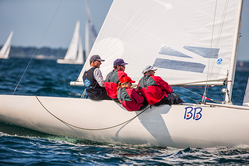 Hardesty in control at the 2014 Etchells Worlds