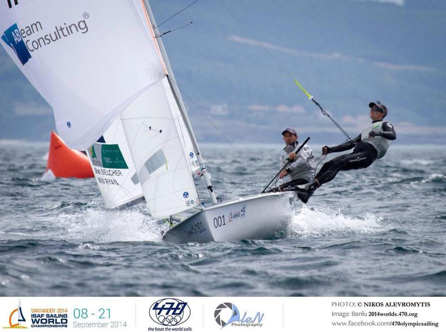 Leading at the ISAF Worlds in Santander