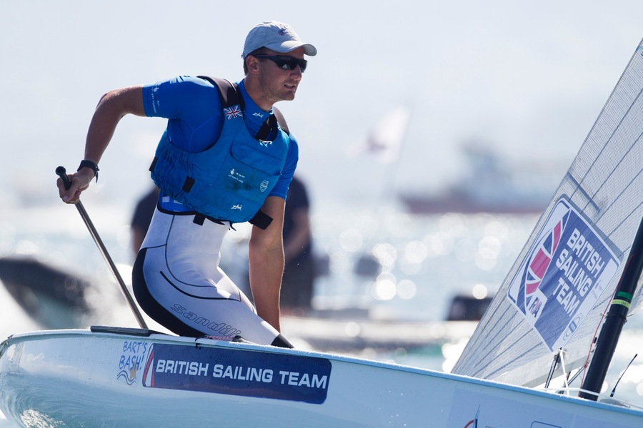 Giles Scott at the Santander 2014 ISAF Worlds