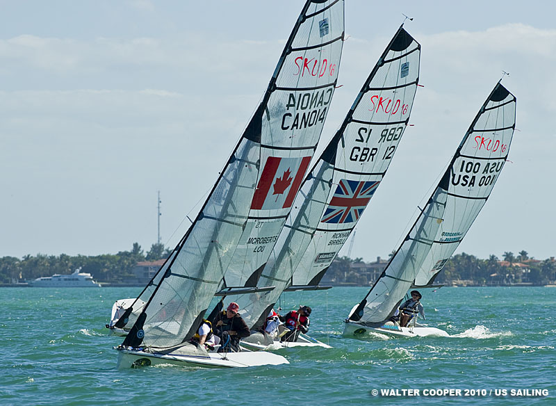 The SKUD18 fleet racing on day four