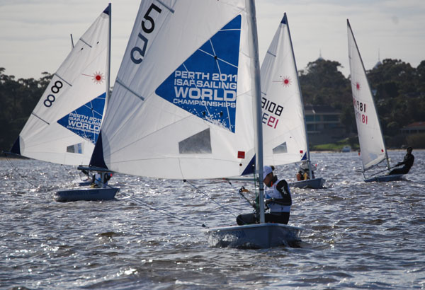 Latvia's Anna Aile leads the way at Royal Freshwater Bay Yacht Club