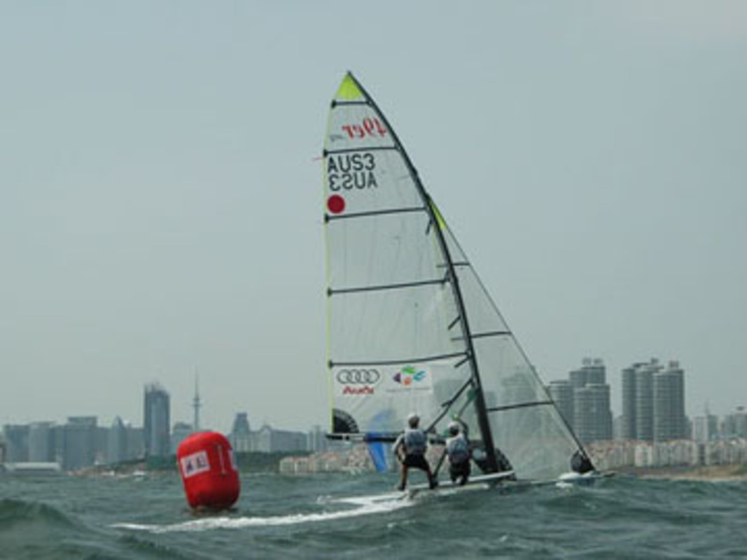 Action from this year's sailing test event in Qingdao