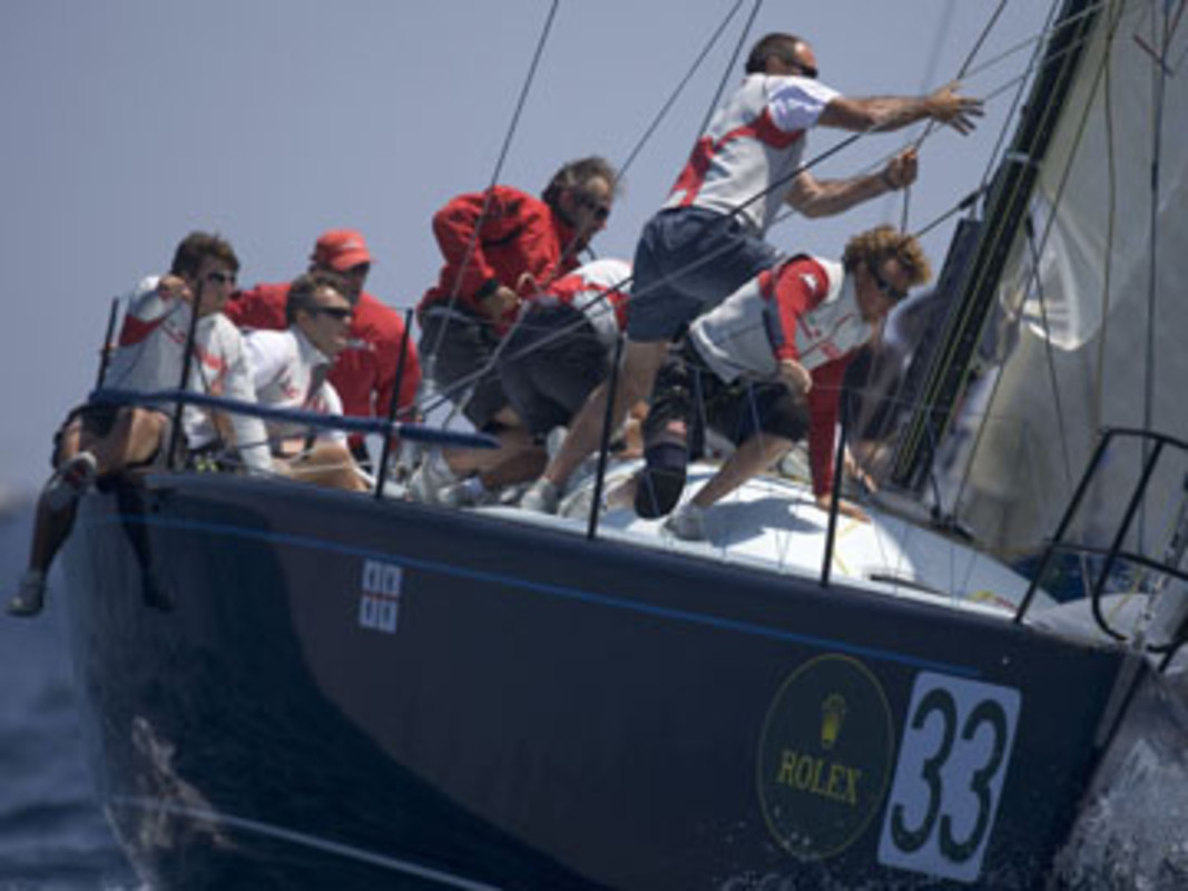 Vincenzo ONORATO's Farr 40 Mascalzone Latino impressed again yesterday