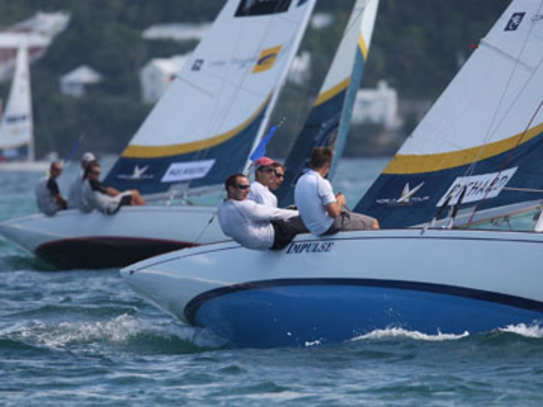 Racing on day one in Bermuda