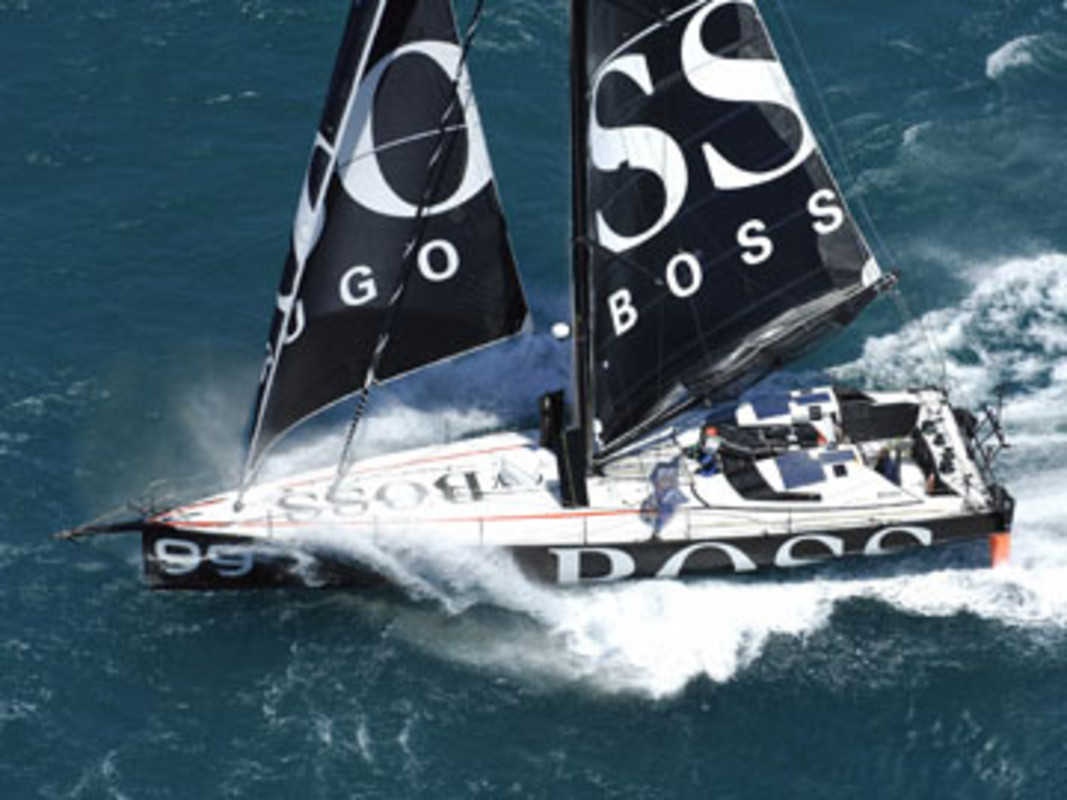 Hugo Boss passing through the Cook Strait