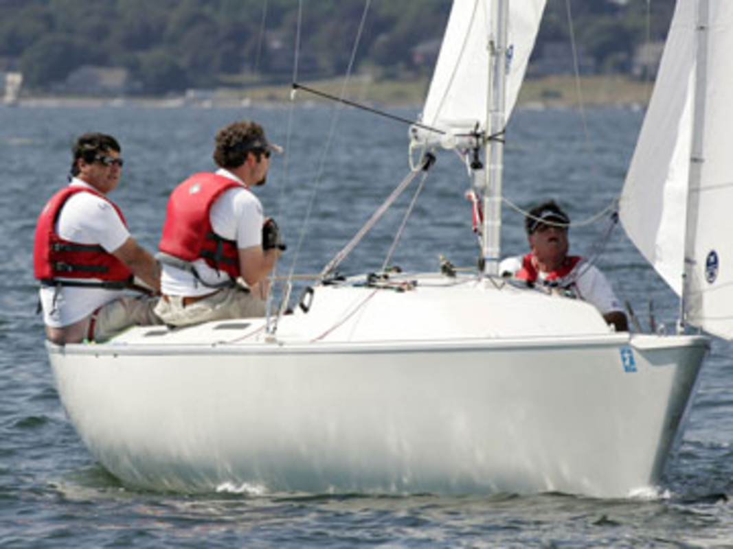 Action from the 2007 Clagett Memorial Regatta at Sail Newport