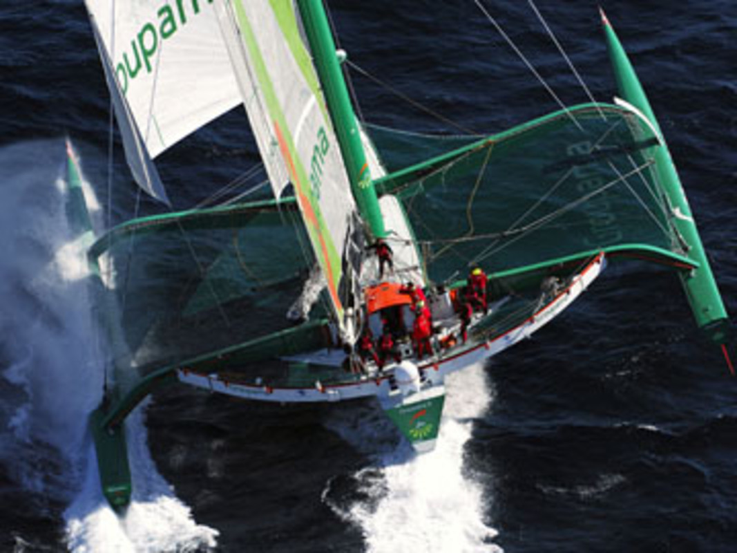 Groupama 3 is gearing up for a round the world record attempt