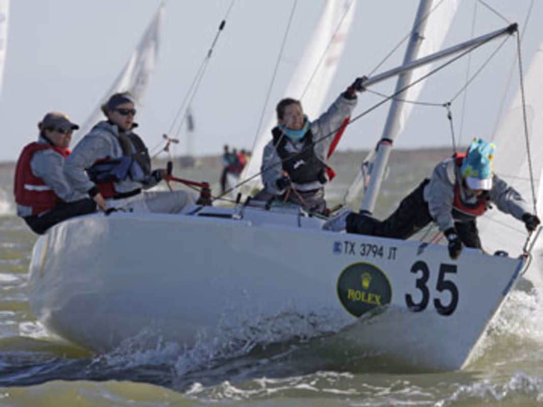 Sally BARKOW and her team competing at the 2007 Rolex International Women's Keelboat Championship
