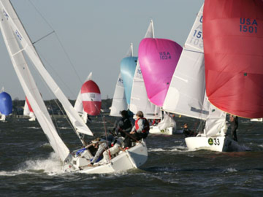 Sally BARKOW and her crew at the 2007 Rolex International Women's Keelboat Championship