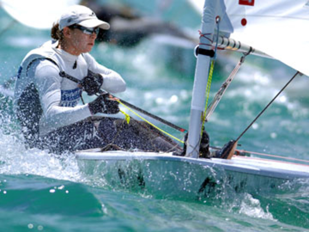 Jo ALEH at the Aussie Laser Radial nationals