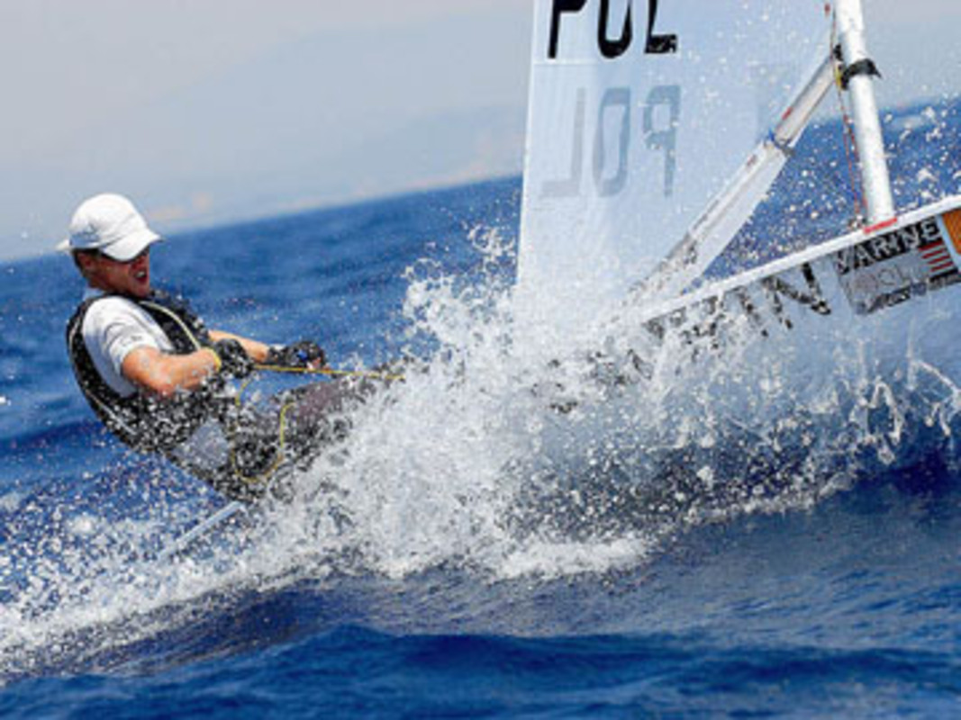 Action from the Laser Europeans