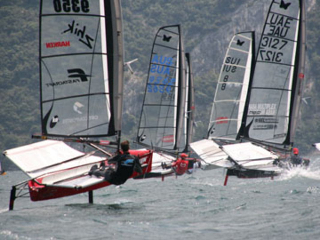 Action from the 2007 International Moth World Championship