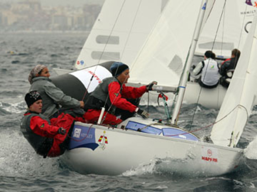 The Spanish Yngling team in action in Palma last year