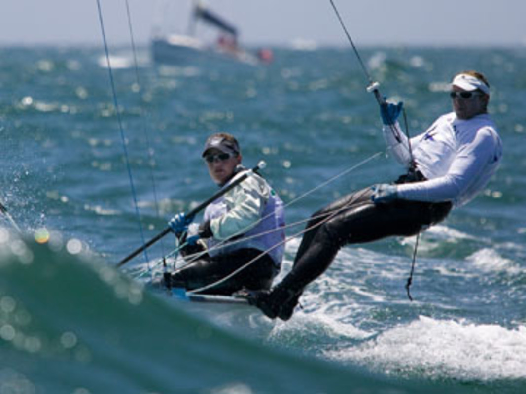 Amanda CLARK and Sarah MERGENTHALER competing at the 2007 ISAF Sailing World Championships