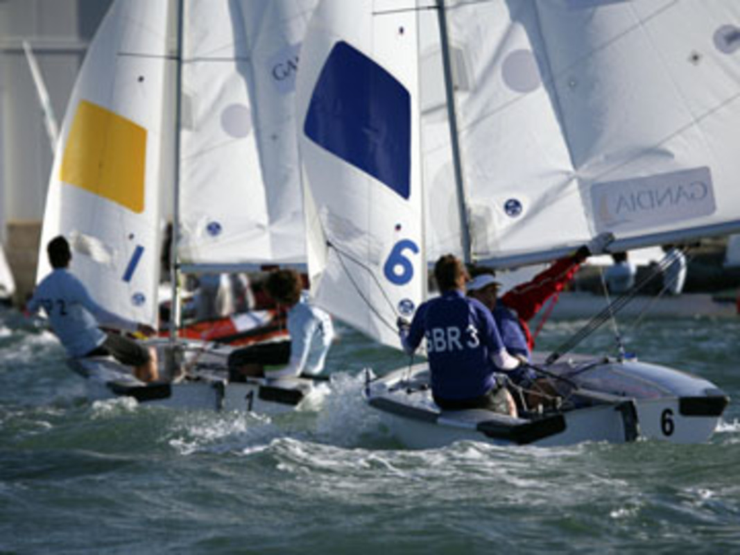 Action from the 2007 ISAF Team Racing Worlds