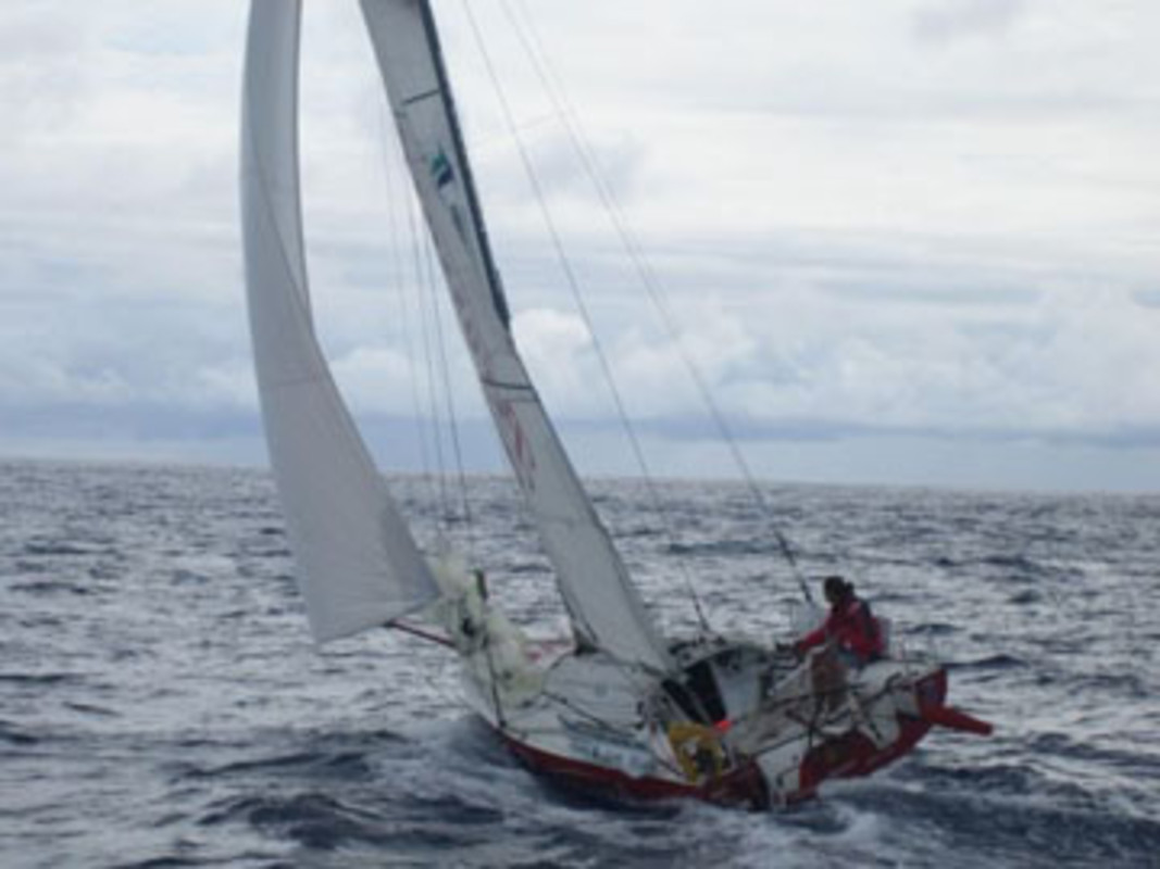 Image of Adrien HARDY just after departing Madeira