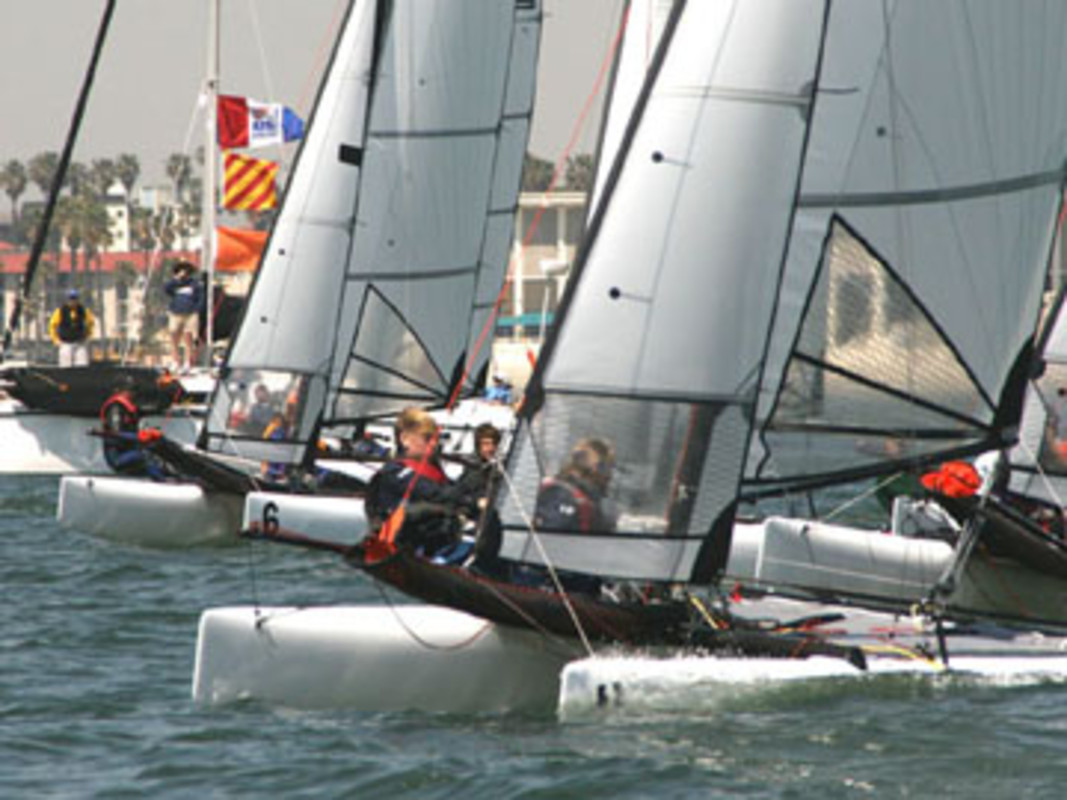 Action from last year's US Youth Multihull Championship