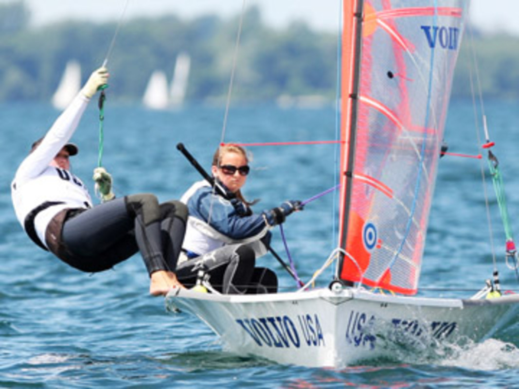 The USA's Emily DELLENBAUGH and Briana PROVANCHA at the 2007 Volvo Youth Sailing ISAF World Championship