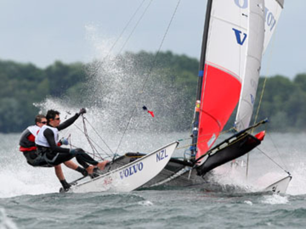 Tim COLTMAN and Ben GOODWIN from New Zealand competing at the 2007 Volvo Youth Sailing ISAF World Championship