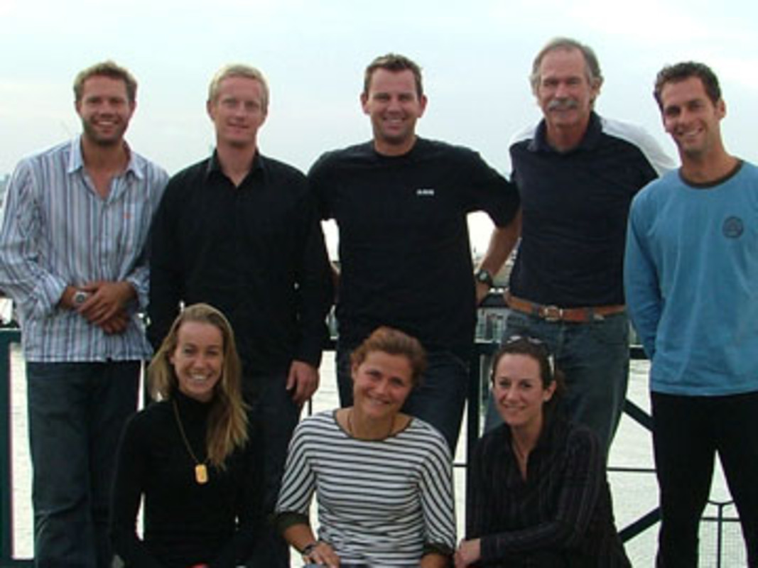 The members of the ISAF Athletes' Commission at the ISAF Secretariat