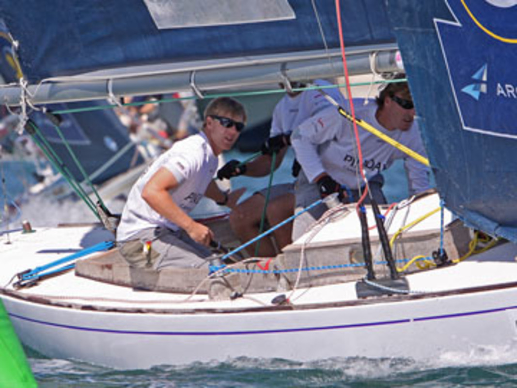 Ian WILLIAMS and his Team Pindar racing in Bermuda