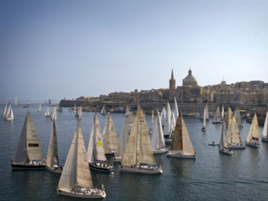 The start of the 29th edition of the Rolex Middle Sea Race
