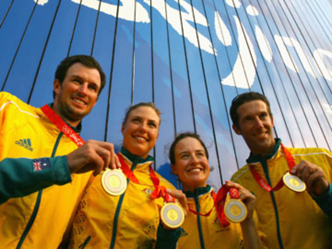 Double Olympic gold for Australia's 470 teams in Qingdao