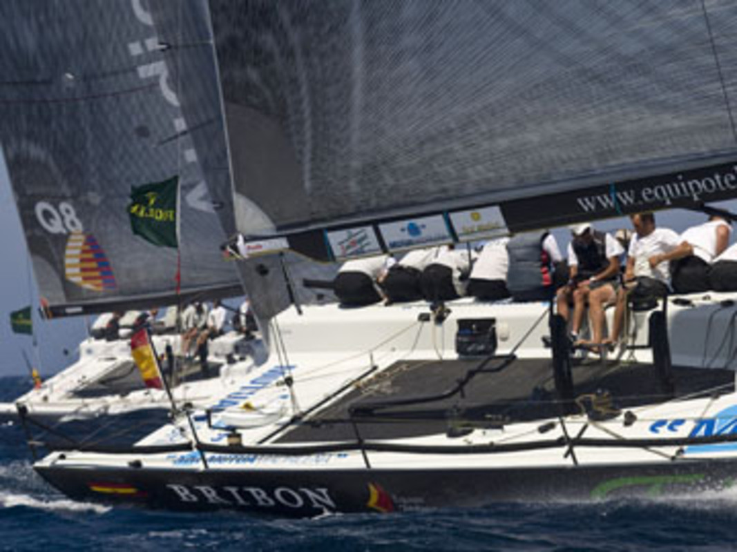 Bribon Telefonica of Team Spain tuning-up
