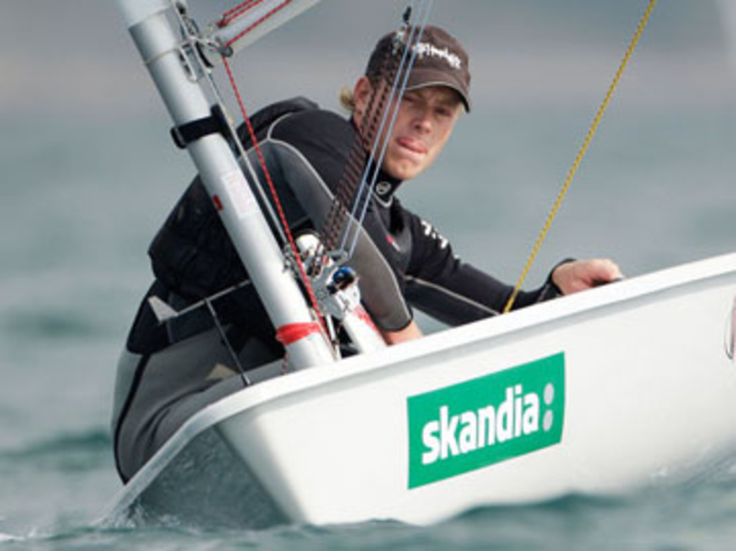 Nick Thompson at the 2008 Skandia Sail For Gold Regatta