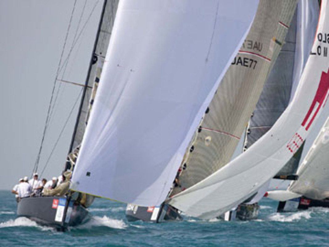 Racing from the first leg of the RC44 tour in Dubai