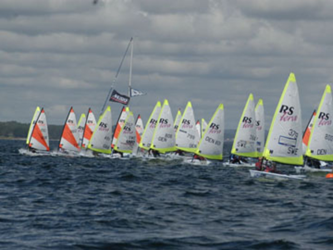 Action from the first RS Tera World Championship in Sweden 2008