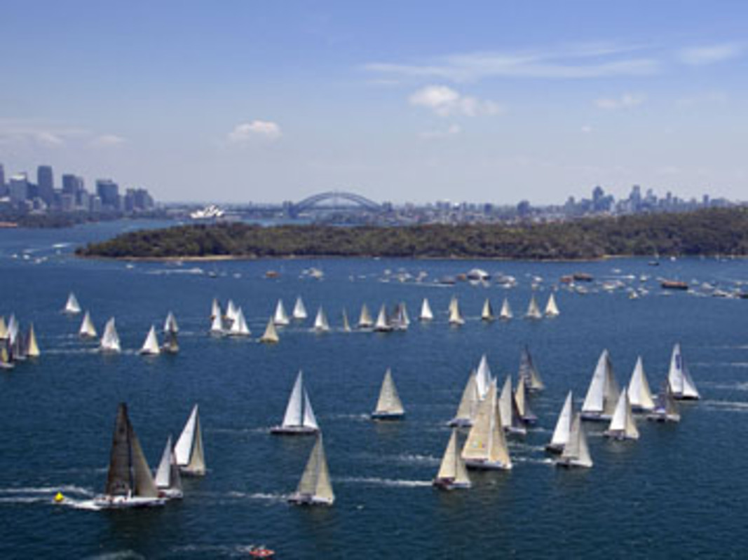 Start of the 64th Rolex Sydney Hobart Yacht Race