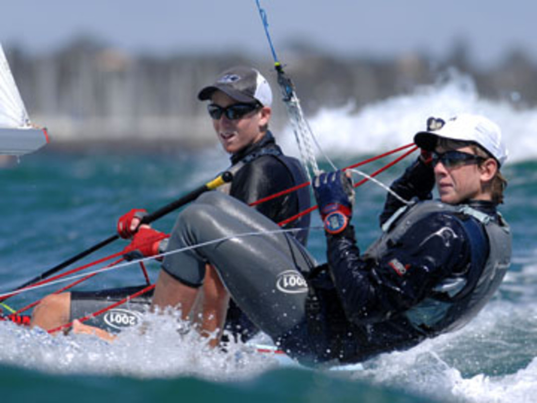 Carl EVANS and Peter BURLING at Sail Melbourne
