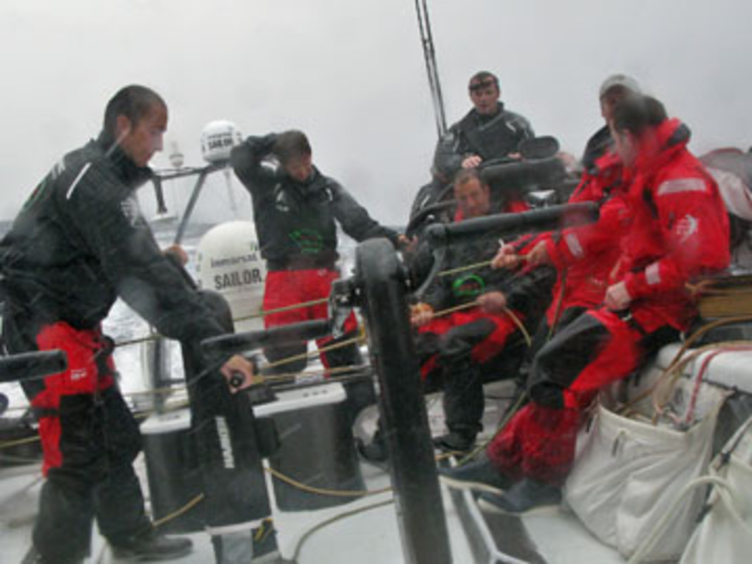 The Green Dragon crew hit rough weather on leg one of the Volvo Ocean Race