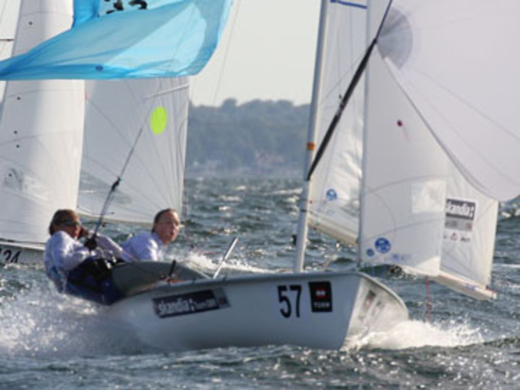 Pippa Wilson and Saskia Clark in action on day two