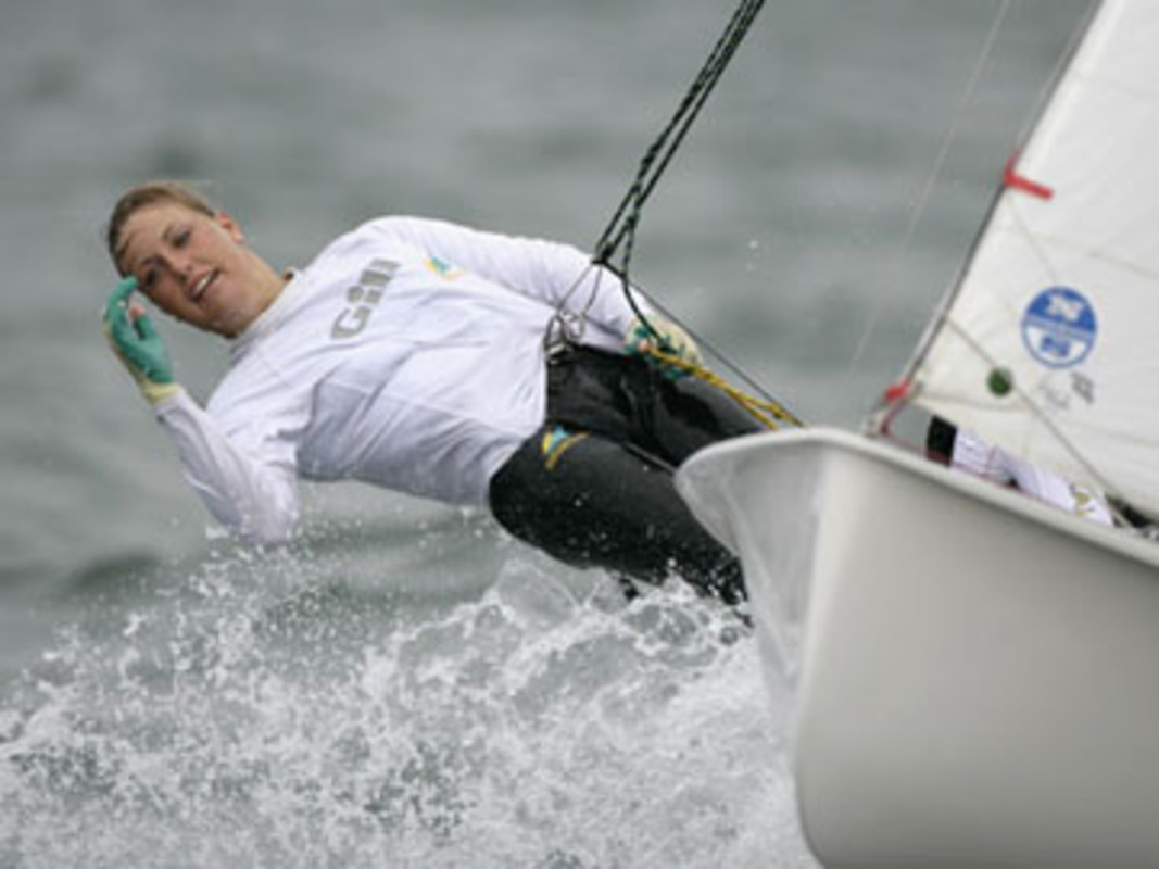 Tessa PARKINSON shows the form that won her 470 gold
