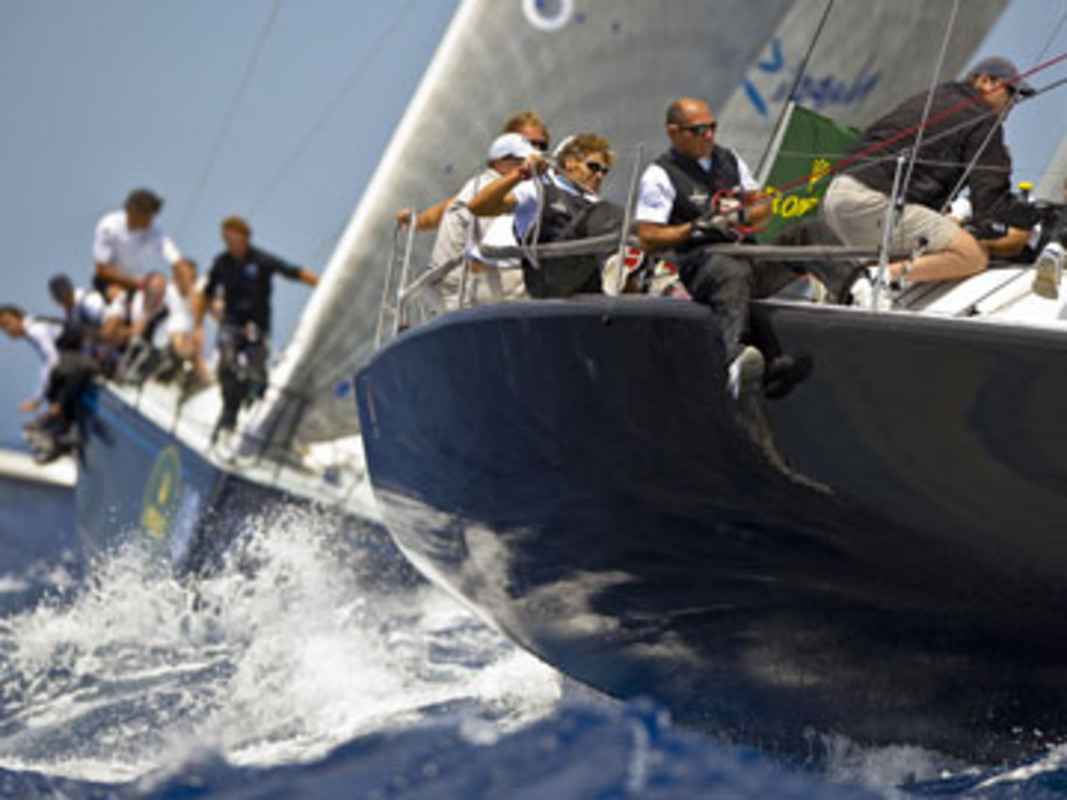 Nerone flies out of the water on day two in Porto Cervo