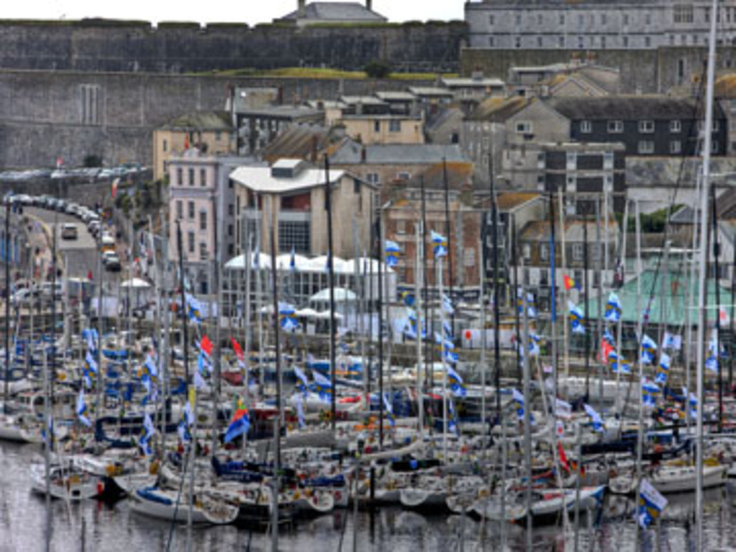 The Rolex Fastnet fleet in Sutton Harbour, Plymouth