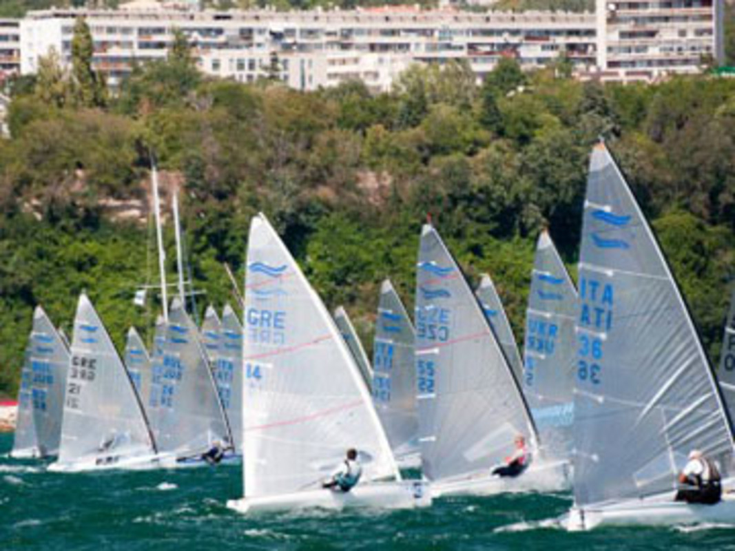 Action from the practice race in Varna