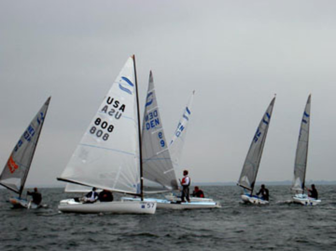Action from the practice race